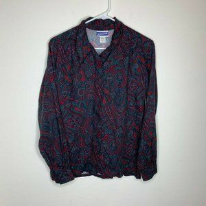 Pendleton Classic Women Size 6 Dark Paisley Shirt